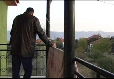 Steve enjoys the sunrise over the village where our Yeni Kilims are woven.