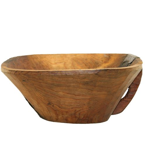 Hand-carved Wood Bowl AZIZ0214-1005-8