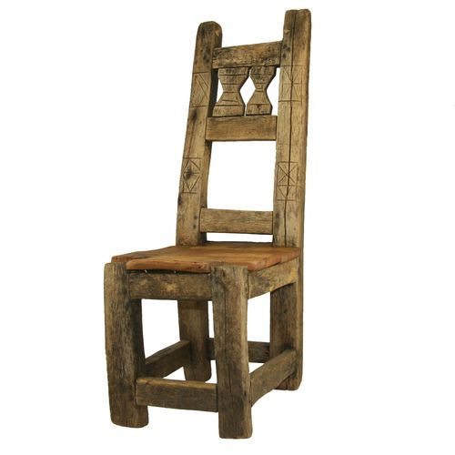 Antique Low Chair AZIZ0214-1023-4