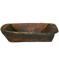 Hand-carved Wood Basin BIR0815-1011-3
