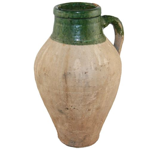 Small Green Glazed Pottery AZIZ0214-1029-5