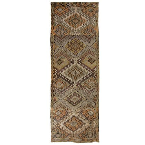 Vintage Turkish Kilim | Long Cicim Flatweave DEM0115-2
