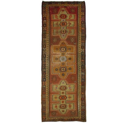 Vintage Turkish Kilim | Kars Runner DEM0115-4
