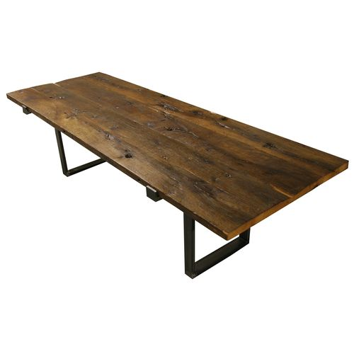 Reclaimed White Oak Dining Table YIL1111-LTIB-1