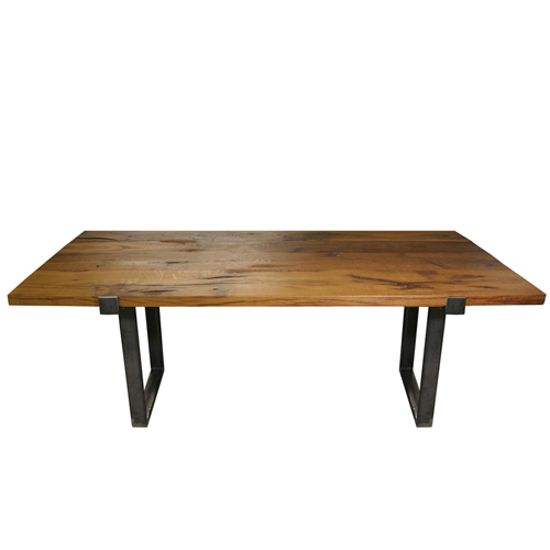 7' Reclaimed White Oak Dining Table YIL1111-MTIB-7