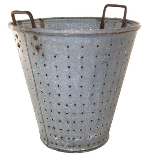 Vintage Olive Bucket | Harvest Bucket with Holes