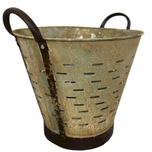 Vintage Olive Bucket | Pale Orange Harvest Bucket YIL1212-1026-9